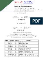 Algebra de Boole Exercicios Resolvidos