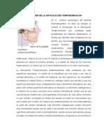 SEMIOLOGÍA DE LA ARTICULACIÓN TEMPOROMAXILAR