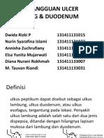 Askep Gangguan Ulcer Lambung & Duodenum (1)