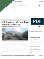 SSP Desmiente Enfrentamientos Entre Civiles Armados en Guerrero - La Jornada