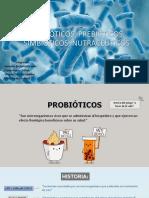 Probióticos, Prebióticos, Simbióticos, Nutracéuticos