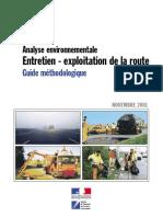 Analyse Environnementale Guide Méthodologique Entretien - Exploitation de La Route