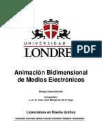 Animación Bidimensional de Medios Electrónicos - L. D. G. Juan José Manjarrez de la Vega