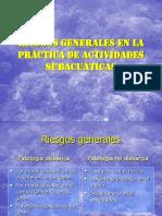 RIESGOS GENERALES EN LA PRÁCTICA DEL BUCEO pasado a copilación general.ppt