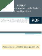 Manajemen anestesi pada pasien DM dan Hipertensi