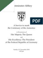 Armistice Centenary Service