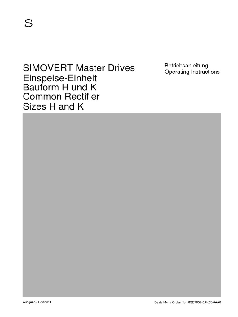 Masterdrives_Manual_Retificador_[ing].pdf | Power Inverter | Power Supply
