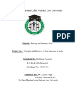 Banking and Insurance Law Project