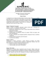 Lista de Exercícios - Projeto Técnico