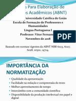 Normas Para Elaboração de Trabalhos Acadêmicos (ABNT)