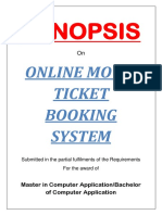 21 - Online Ticket Booking System Project-Synopsis
