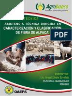 Guia Tecnica - Asistencia Tecnica Dirigida en Caracterizacion y Clasificacion de Fibra de Alpaca.pdf