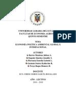 Economía Política Ambiental Global e Internacional