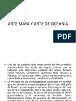 Arte Maya y Arte de Oceania