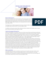 infancy and toddlerhood fact sheet 2