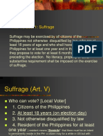 Suffrage (Art. v)