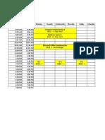 schedule 2dn semester