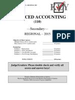 110 S Advanced Accounting R 2015 Key