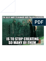 The Best Way to Honor Our Fallen Soldiers is to Stop Creating So Many of Them!