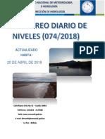 Reporte Hidrologico Senamhi 20 04 2018
