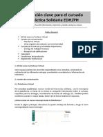 Información Clave Para El Alumno PRÁCTICA SOLIDARIA - Silabus Ps EDH -PH.-1