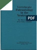 Vertebrate Paleontology Miocene Fauna of La Venta.pdf