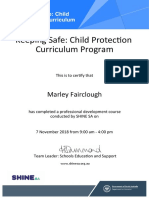 keeping safe  child protection curriculum attendance certificate