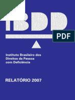 Relatorio IBDD 2007 Site