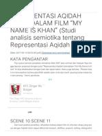 """REPRESENTASI AQIDAH ISLAM DALAM FILM """"MY NAME IS KHAN"""""""