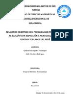 Ejemplo de Muestreo con Probabilidades Proporcionales al Tamaño con reposición (PPT CR)
