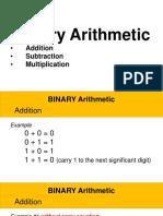 1 Binary Arithmetic - OPERATIONS