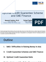 Optimal Credit Guarantee Scheme and SME Finance
