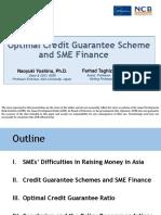 Optimal Credit Guarantee Scheme and SME Finance
