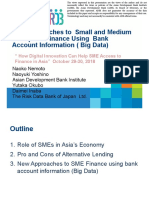 New Approaches to SME Finance Using Bank Account Information (Big Data)