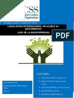 Legislacíon Internacional Aplicable Al Biocomercio