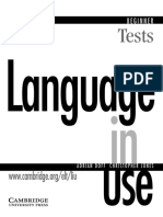Language in Use Beginner Tests