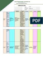 Curriculum Map 2018