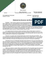Statement by AZ Governor Jan Brewer