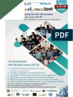 Brochure MinerLima 2018- 4° Feria Internacional de Minerales de Lima en la EAP de Ingeniería Geológica FIGMMG-UNMSM