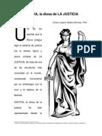 Iustitia, Diosa Femenina de La Justicia