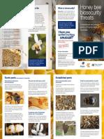Honey Bee Biosecurity Threats Brochure