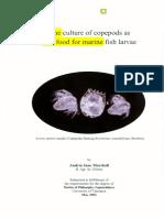 Pemanfaatan Copepoda Oithona Sp Sebagai