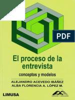 Libro Acevedo Ibanez Alejandro El Proceso de La Entrevista PDF