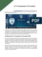 Prediksi Israel vs Guatemala 16 November 2018