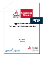 Appraisal Institute Commercial Data Standards
