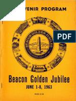 1963 Beacon Golden Jubilee Souvenir Program