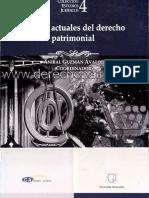 Perfiles actuales del derecho patrimonial.