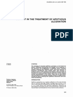 Aphthous Ulceration