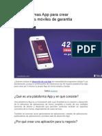 42 Plataformas App Para Crear Aplicaciones Móviles de Garantía
