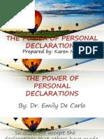 Personal Declarations